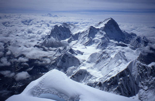 View from the summit of Everest